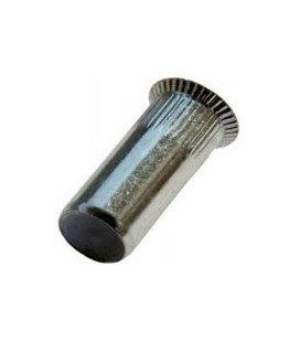 Заклепка M5*20,5 мм из стали с внутренней резьбой, потайной бортик, закрытая, с насечкой