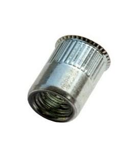 Заклепка M4*10 мм из алюминия с внутренней резьбой, уменьшенный бортик, с насечкой
