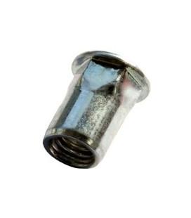 Заклепка M8*17,5 мм из нержавеющей стали с внутренней резьбой, цилиндрический бортик, полушестигранная